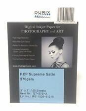 """DURIX RCP Supreme Satin 270gsm Digital Inkjet Paper  ( 5"""" x-7 """" 50 sheet )"""
