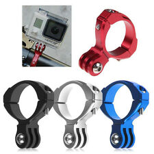 Bicycle Aluminum Handlebar Bar Clamp Mount Clip for Gopro Hero 5 4 3 3+ 2 Camera