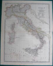 Italy Lithography Antique Europe Atlas Maps