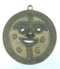 Vintage India Buddhist Deity  Hanging Brass / Bonze Circular Sun God sunray Mask