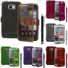 Accessoires Housse Coque Portefeuille Livre Silicone TPU Samsung Galaxy S2 I9100