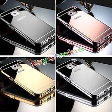 Parachoques Metálico Aluminio Espejo Funda Rígida Posterior para Samsung Galaxy