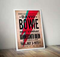 David Bowie at the Hammersmith Odeon 1973 Poster/Artwork/Print.