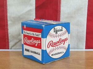 Vintage 1960s Rawlings Official Baseball MMI Ball New Old Stock in Original Box
