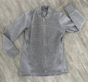 Womens Lululemon Full Zipup Jacket Sweatshirt Wool? Blend Grays Size 6