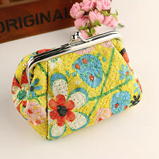 Women's Small Mini Wallet Card Key Holder Coin Purse Clutch Bag Money Coin Pouch