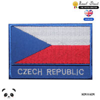 Czech Republic National Flag With Name Embroidered Iron On Sew On PatchBadge
