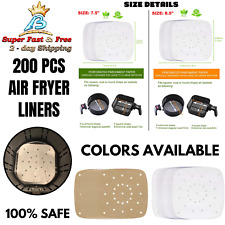 Air Fryer Perforated Parchment Paper Steamer Tray Liner Non Stick Cooking Mat