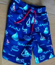 Mothercare 12-18 Months Swim Shorts Blue With Boats