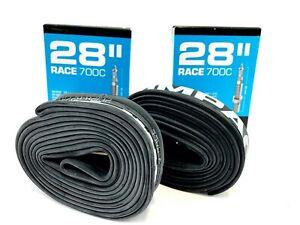 PACK OF 2 Schwalbe IMPAC Race700x23c 700x25c 700x28cc Road Bike InnerTube Presta