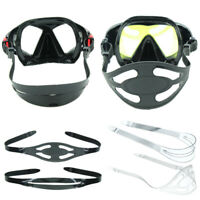 Silicone Scuba Diving Mask Strap Cover Snorkeling Freediving Hair Protector Bold