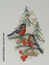 PLAUENER SPITZE ® Fensterbild WEIHNACHTEN Vögel WINTERVÖGEL Gimpel WINTER Deko