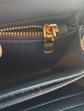 blue leather prada handbag