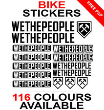 We The People decals stickers sheet (cycling, mtb, bmx, road, bike) die-cut