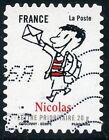 TIMBRE FRANCE AUTOADHESIF OBLITERE N° 356 / SOURIRES AVEC LE PETIT NICOLAS