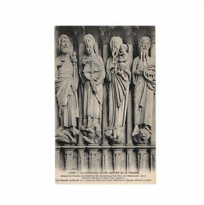 AK Ansichtskarte Laon / La Cathedrale / Porte centrale de la Facade