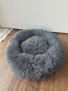 Donut Plush Pet Dog Cat Bed Fluffy Soft Warm  Bed Sleeping Nest New Without Tag