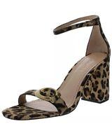 Coach Womens Maya 85 Natural Beige Calf Hair Dress Sandals Shoes Heels Size 9.5