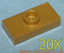 6 Stück goldene LEGO KÖPFE LAMPEN KOPF in gold farben /& NEU ! SB06