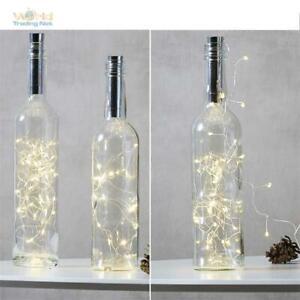 Flaschenbeleuchtung, Korken LED-Lichterkette Batteriebetrieb Timer Flachenlicht