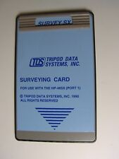 TDS SURVEY SX Surveying Card for use with the HP-48GX/SX