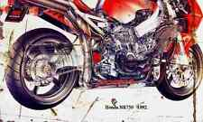 Honda NR750 1992 ghosted Aged Vintage Photo Print A4 Retro poster
