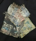 ANTIQUE / VINTAGE FABRIC TAPESTRY LOT OF 4
