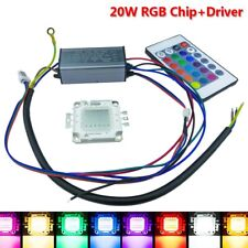 20W Led Driver Chip RGB COB light remote floodlight high power bulb AC 100-260V