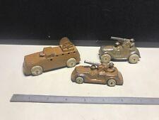 Vintage Barclay Lead Slush Military Trucks (3) Total