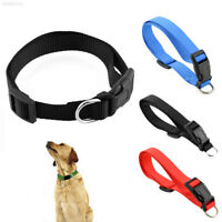 6805 New Durable Adjustable Nylon Pet Puppy Cat Dog Collar with Buckle Lead S/M/