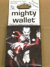 "THE JOKER AND HARLEY QUINN TYVEK MIGHTY WALLET (4"" x 3"")  ALEX ROSS ART- SEALED"