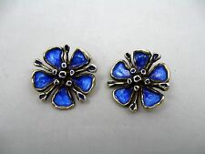 David Andersen Norway Karl Otteren Enamel Sterling 925 Vermeil Earrings NGS472