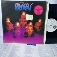 Deep Purple Burn- Warner Bros W 2766 PROMO VG+/VG+ RARE Rock Record LP