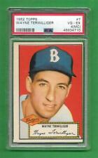 1952 Topps #7 Wayne Terwilliger ** PSA VG-EX 4 (MC) ** old Dodgers baseball card