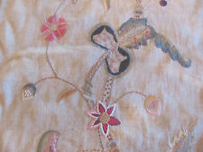 "Gorgeous Folia Ralph Lauren Fabric ""VANDERLYN CREWEL"" in Cobblestone 8+ Yards"