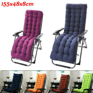 Deck Chair Cushion Lounge Tufted Chaise Padding Outdoor Indoor Recliner 61''