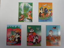 Walt Disney's Chip and Dale - five modern postcards
