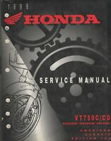 1998 HONDA MOTORCYCLE VT750C/CD SHADOW/ SHADOW DELUXE  SERVICE MANUAL  (930)