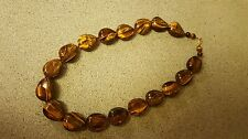 New Tigers Eye Necklace Sterling Silver Clamp