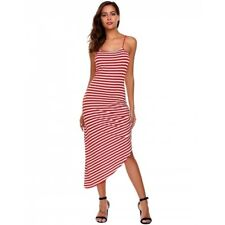 """""""Chloe"""" Beautiful Ladies Red & White Stripe Size 12 Summer Casual Stretch Dress"""