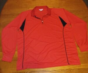 Tworoy golf polo shirt - Quick dry Long Sleeve Size 3X Large Polyester 1/4 Zip