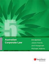 Australian Corporate Law, 5th edition By J Harris Paperback