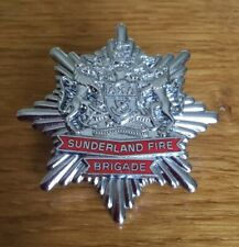 An old Sunderland  Fire Brigade, cap badge.