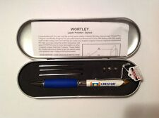 Lot of 2 Crestor Stylus /Laser Pointer/Pen - Wortley -Extra batteries & refills