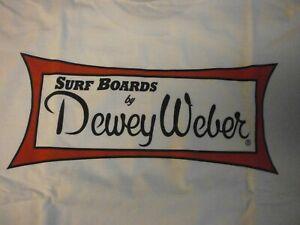 DEWEY WEBER SURFBOARDS CLASSIC SHORT SLEEVE BEACH FIN WHITE  T-SHIRT