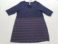 Sheego Women's Navy & Floral Blue dress size UK 28-30 BNWT (slight defect)