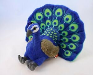 Wild Republic Peacock Plush Soft Toy - 33cm Stuffed Animal Toy CuddleKins