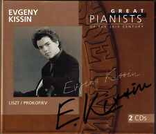 Evgeny Kissin signée GREAT PIANISTS OF THE 20th CENTURY 2cd Schubert Prokofiev