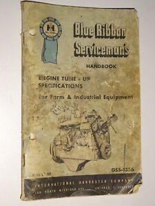 1964 IH Blue Ribbon Service Gss-1356 Engine Tune-Up Specs Serviceman's Handbook