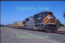 Original slide- UP-WP Heritage SD70ACe #1983 & Passenger Special At Rocklin,CA.